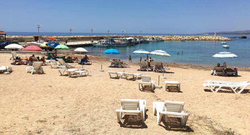 Strand in Pegeia stockbilder