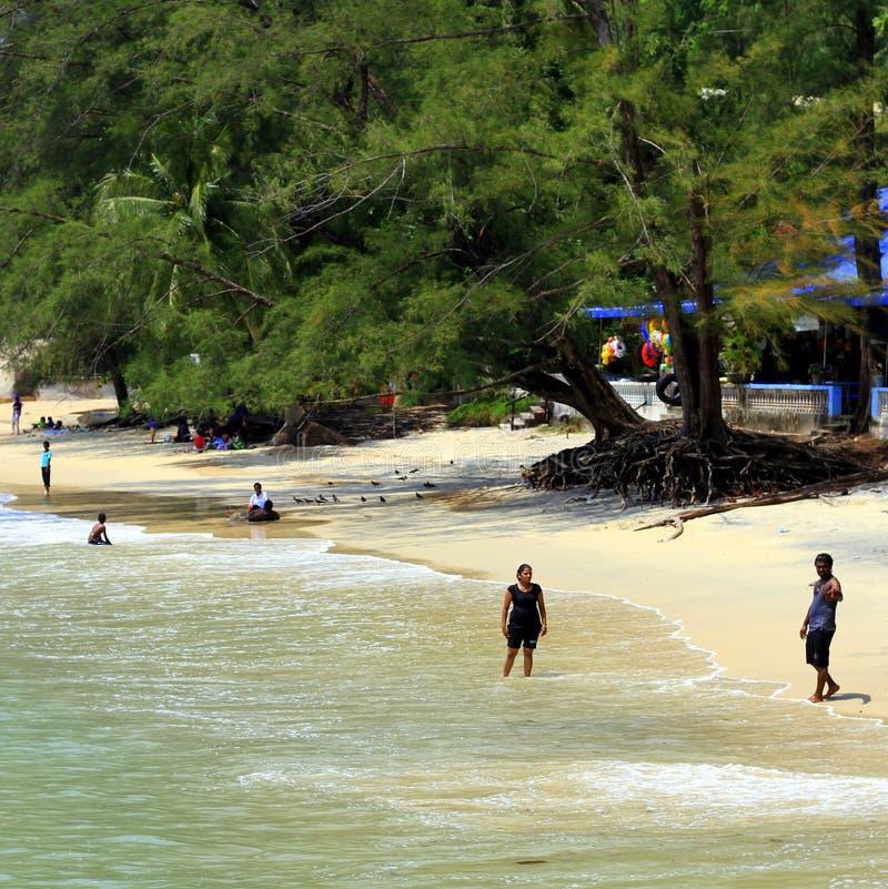 Strand in Penang, Malaysia lizenzfreie stockbilder