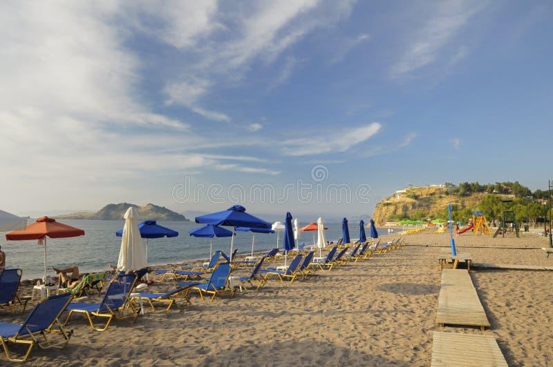 Strand an PETRA, Lesvos, Griechenland lizenzfreie stockfotografie