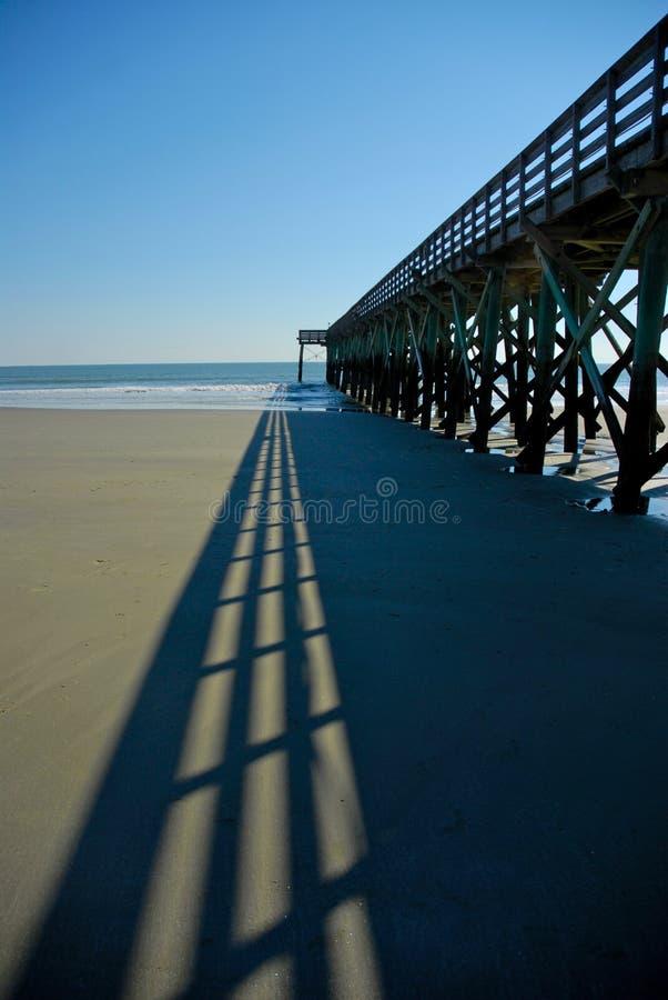 Strand-Pier lizenzfreies stockfoto