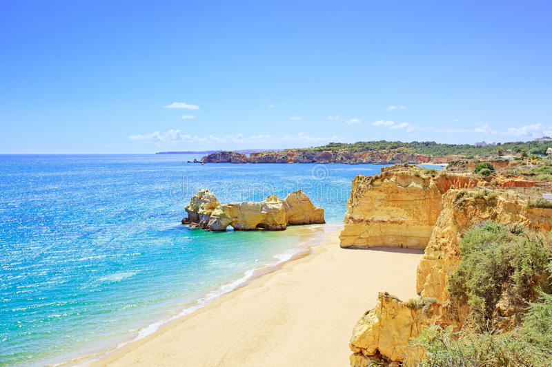Strand Portimao Praia-DA-Rocha. Algarve. Portugal stockbild
