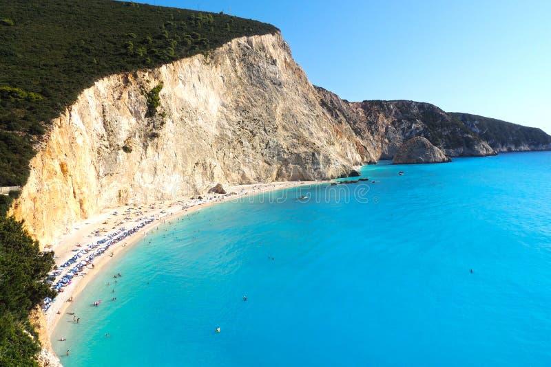 Strand Porto Katsiki, Lefada, Griechenland lizenzfreie stockfotos