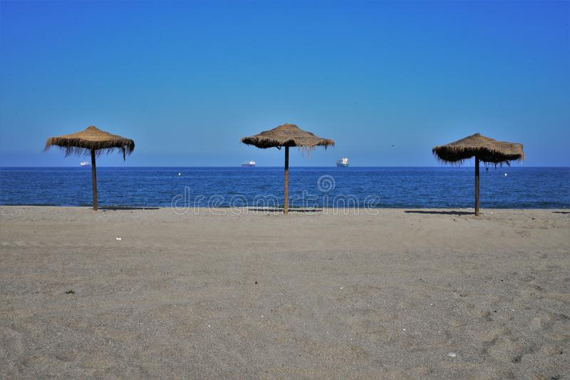 Strand Puerto Rey van Vera Almeria Andalusia Spain royalty-vrije stock fotografie