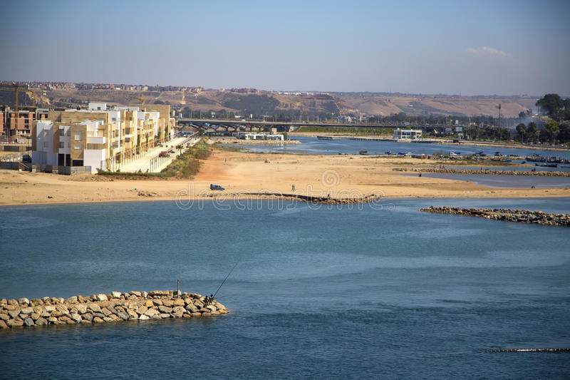 Strand in Rabat, Marokko royalty-vrije stock afbeelding