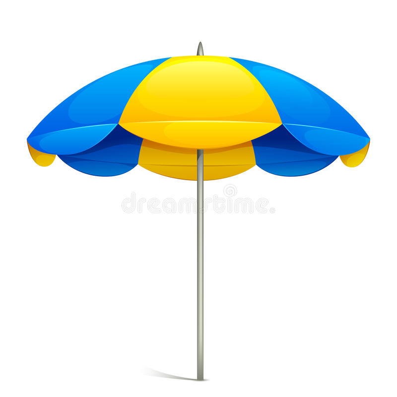 Strand-Regenschirm lizenzfreie abbildung