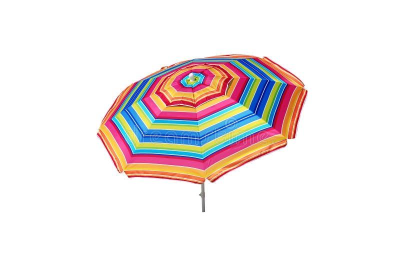 Strand-Regenschirm getrennt lizenzfreie stockbilder