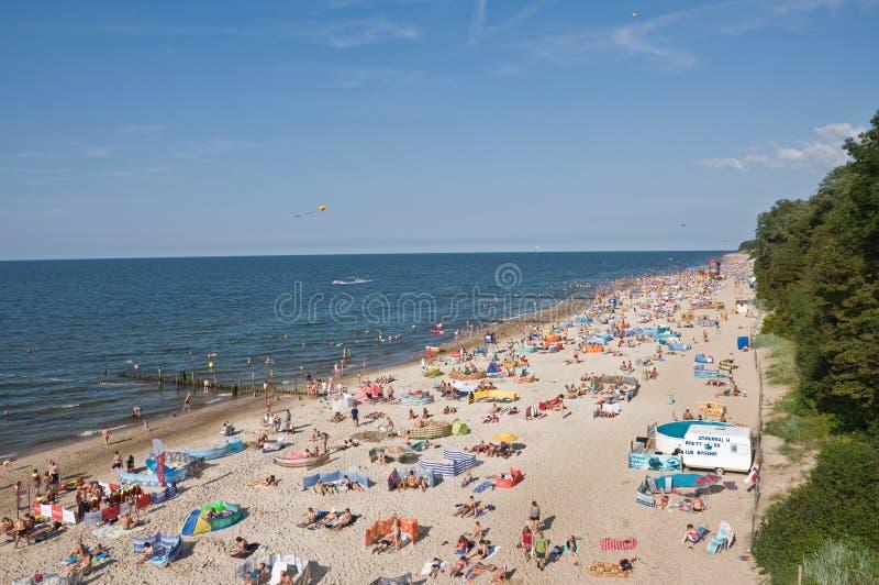 Strand in Rewal royalty-vrije stock afbeeldingen