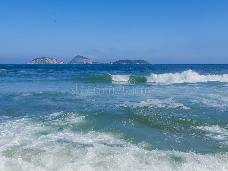 Strand in Rio de Janeiro, Brasilien stockfotografie