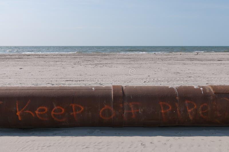 Strand-Rohr stockbild