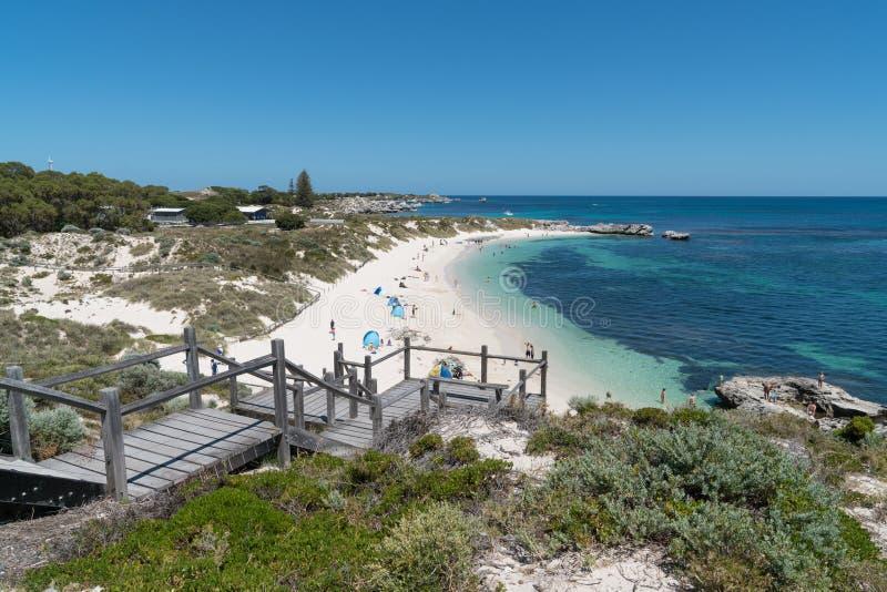 Strand Rottnest ö, västra Australien royaltyfria bilder
