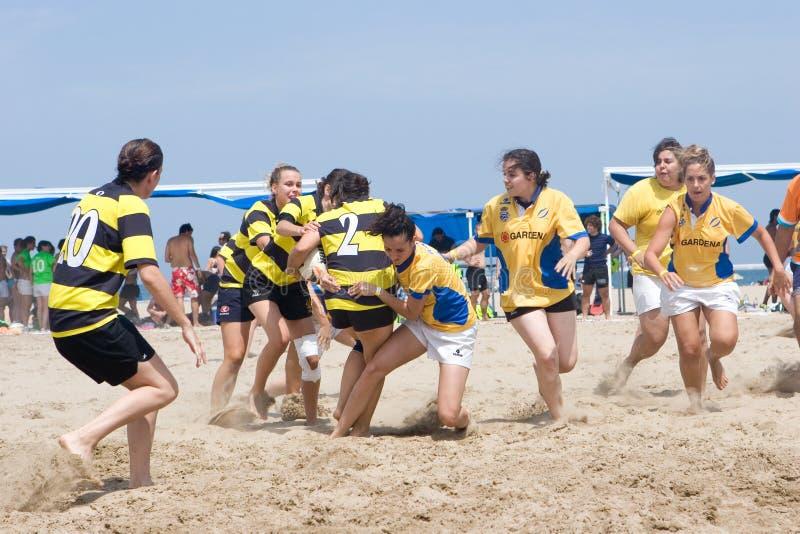Strand-Rugby stockbilder
