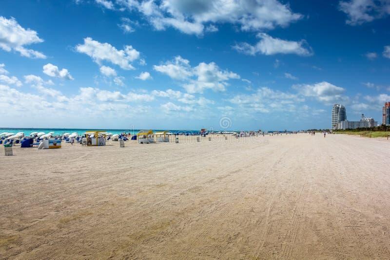 strand södra miami royaltyfri fotografi