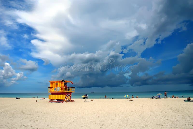 strand södra miami arkivbilder