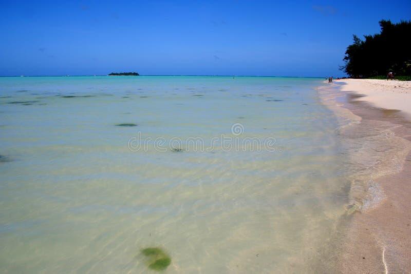 Strand in Saipan stockbilder