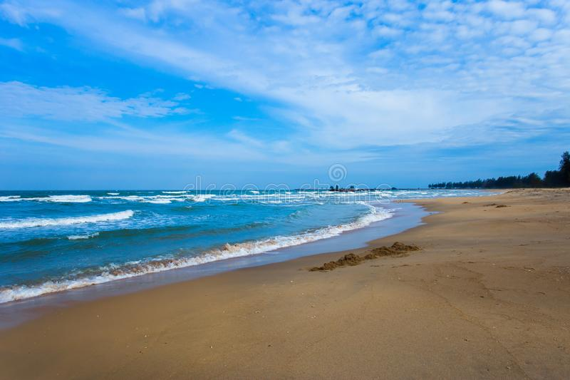 Strand sand, sommar, Thailand, ? royaltyfri bild