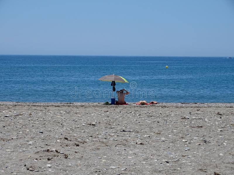 Strand Sans Miguel Poniente von EL Ejido Almeria Andalusia Spain lizenzfreies stockbild