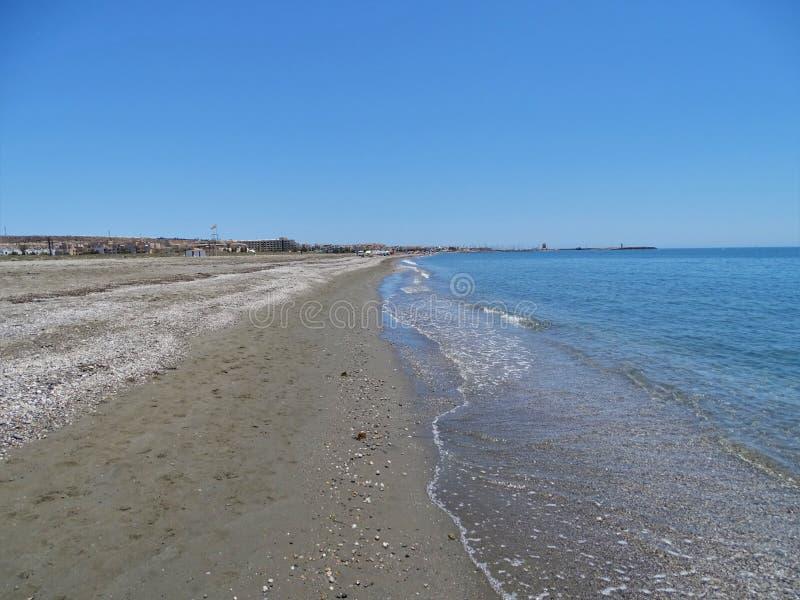 Strand Sans Miguel Poniente von EL Ejido Almeria Andalusia Spain stockbilder