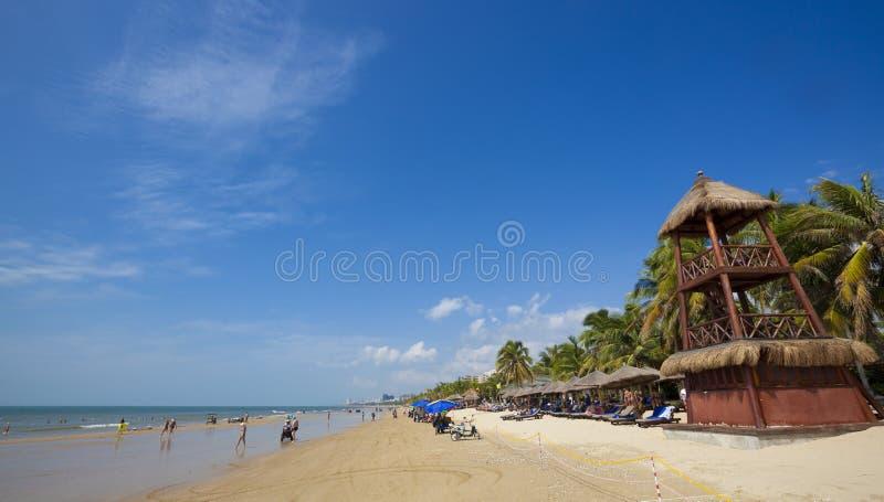 Strand Sanyas Hainan stockfotografie