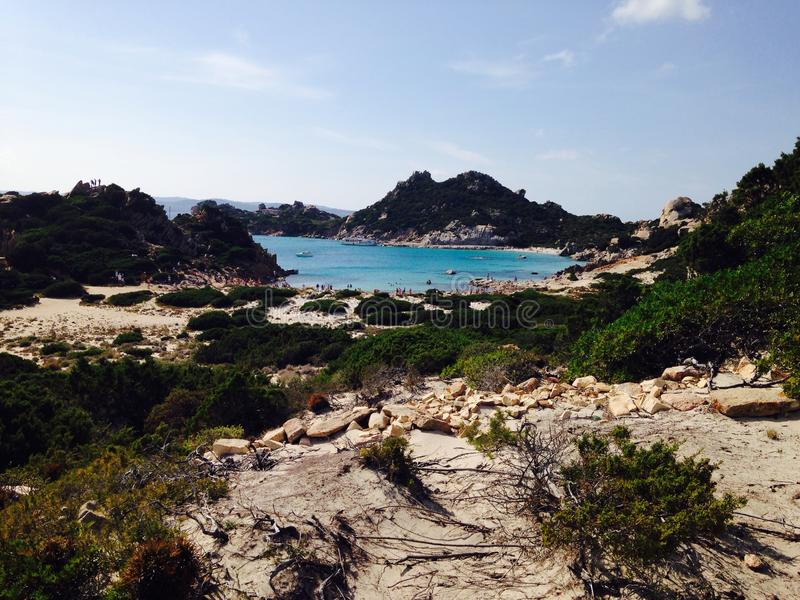 Strand in Sardinien lizenzfreie stockfotografie