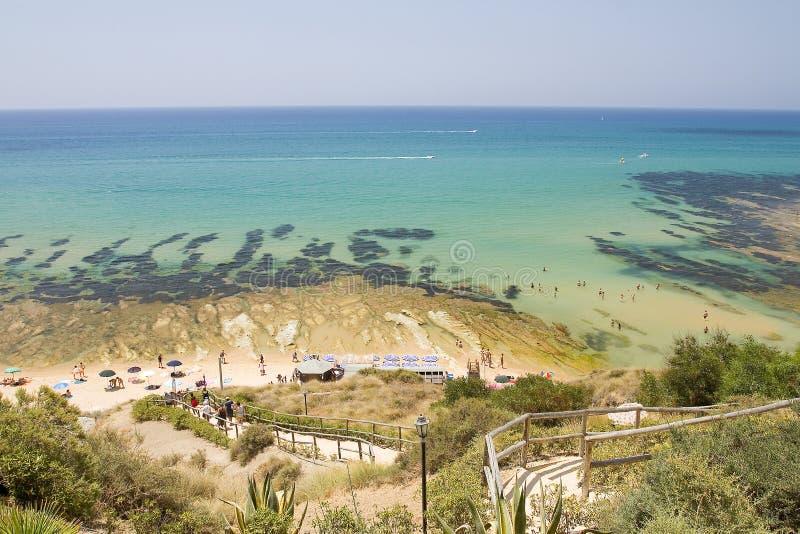 Strand Scala-dei Turchi lizenzfreies stockbild