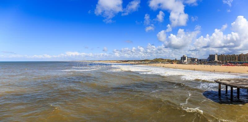 Strand in Scheveningen, Nederland stock foto