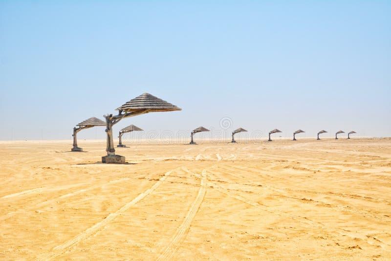 Strand-Seitenal uqair Saudi-Arabien lizenzfreies stockbild
