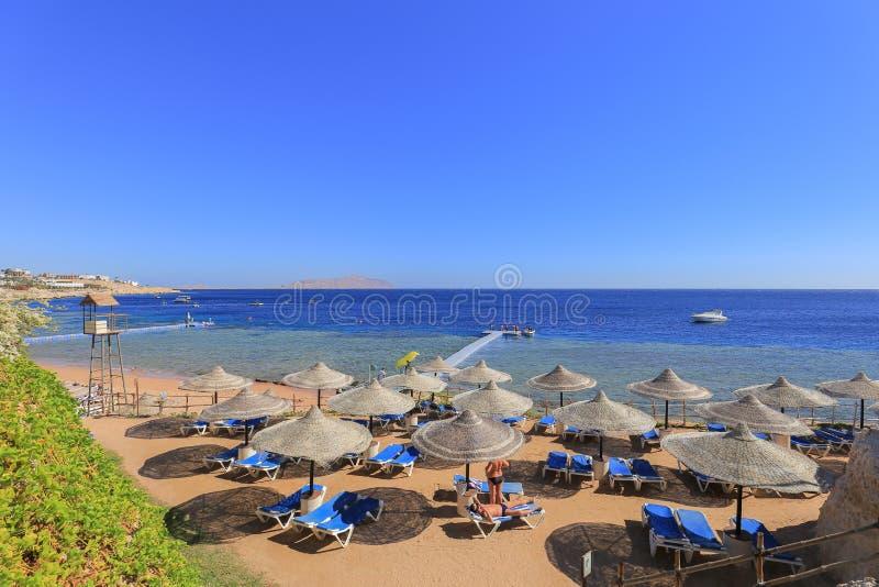 Strand in Sharm el Sheikh royalty-vrije stock foto's