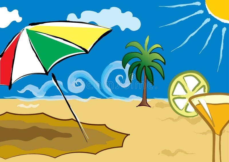 Strand-Sommer stock abbildung