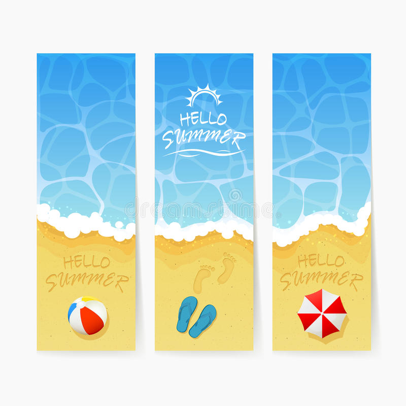 Strand-Sommerkarten stock abbildung