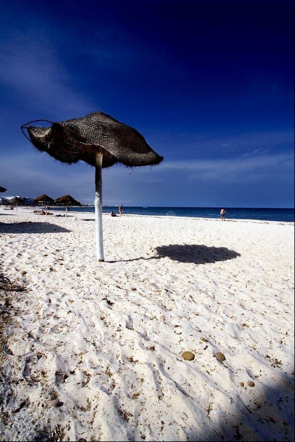 Strand in souss Tunesië royalty-vrije stock afbeelding