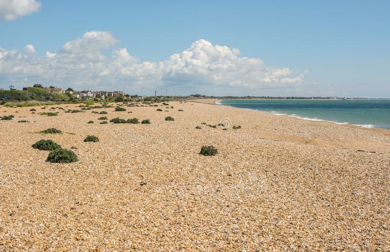 Strand in Southsea, Portsmouth, Engeland royalty-vrije stock foto
