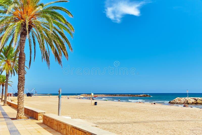 Strand in Spanje stock fotografie