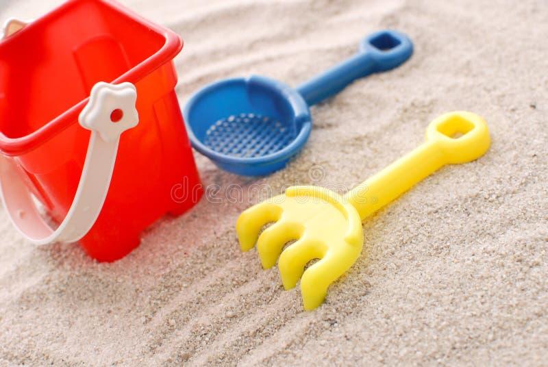 Strand-Spielwaren lizenzfreie stockfotografie
