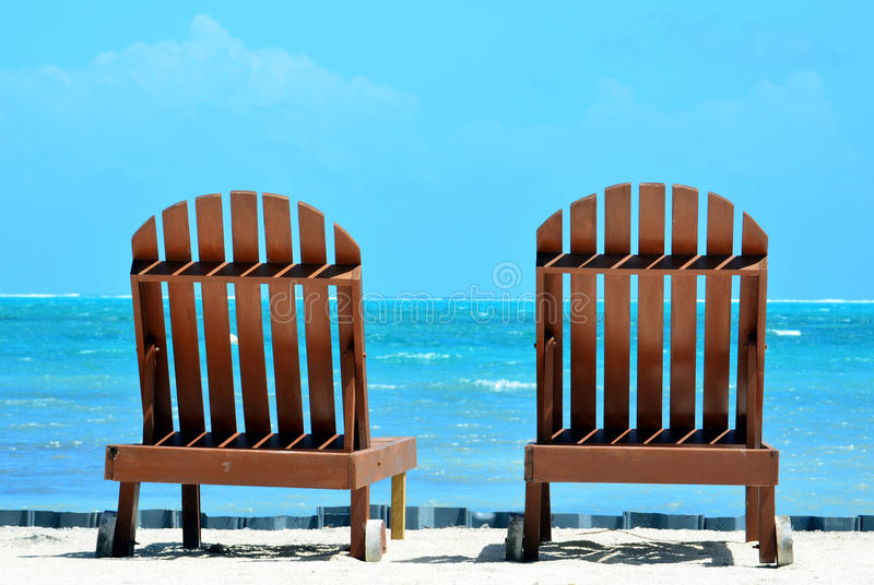 Strand-Stühle stockbilder