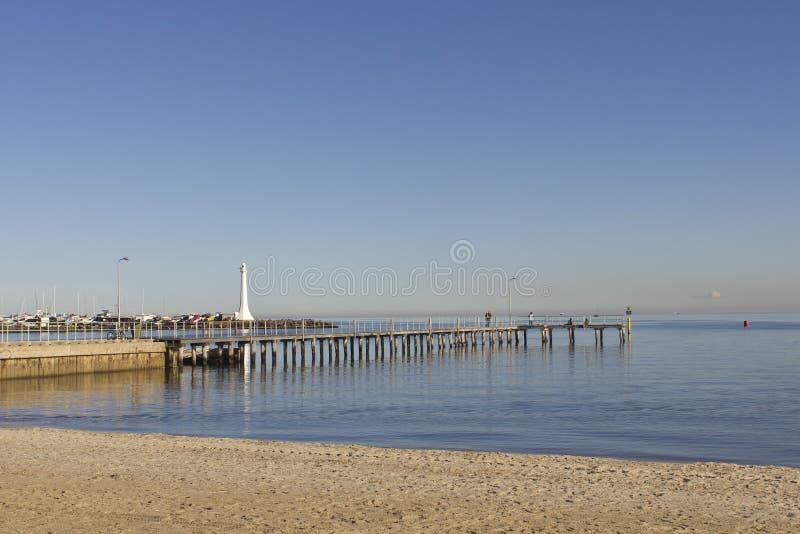 Strand St. Kilda lizenzfreie stockbilder