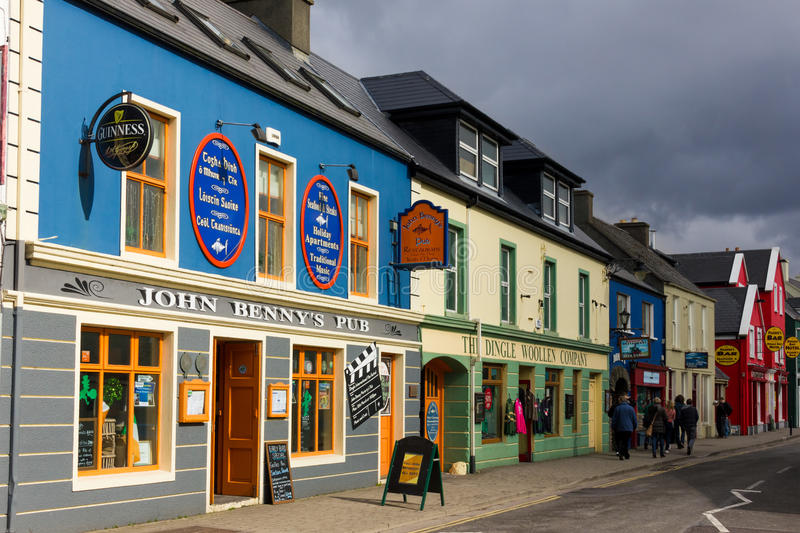 Strand street. Dingle. Ireland. Picturesque and colourful Strand street. Dingle. county Kerry. Ireland stock image