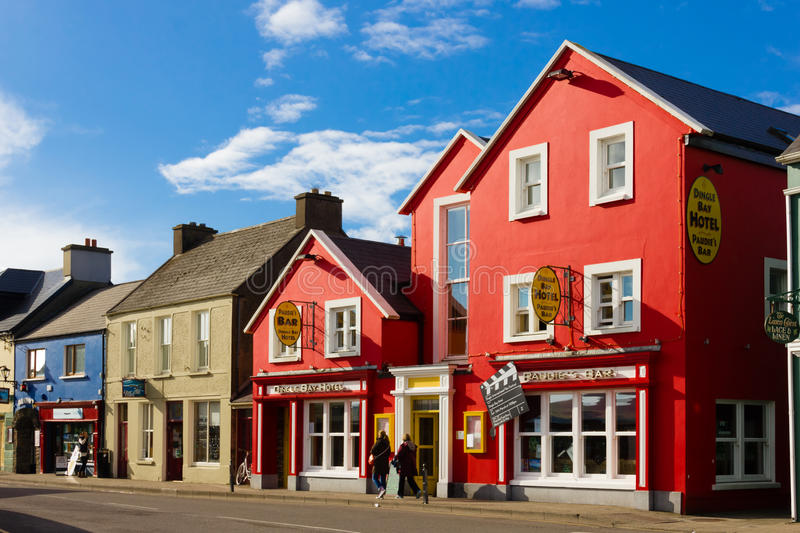 Strand street. Dingle. Ireland. Picturesque and colourful Strand street. Dingle. county Kerry. Ireland stock photography