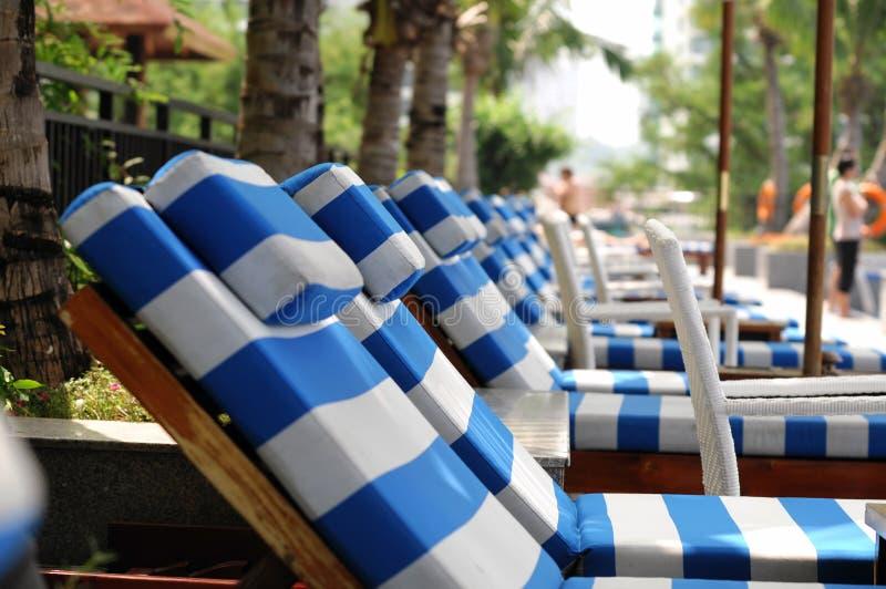 Strand-Stuhl lizenzfreies stockfoto