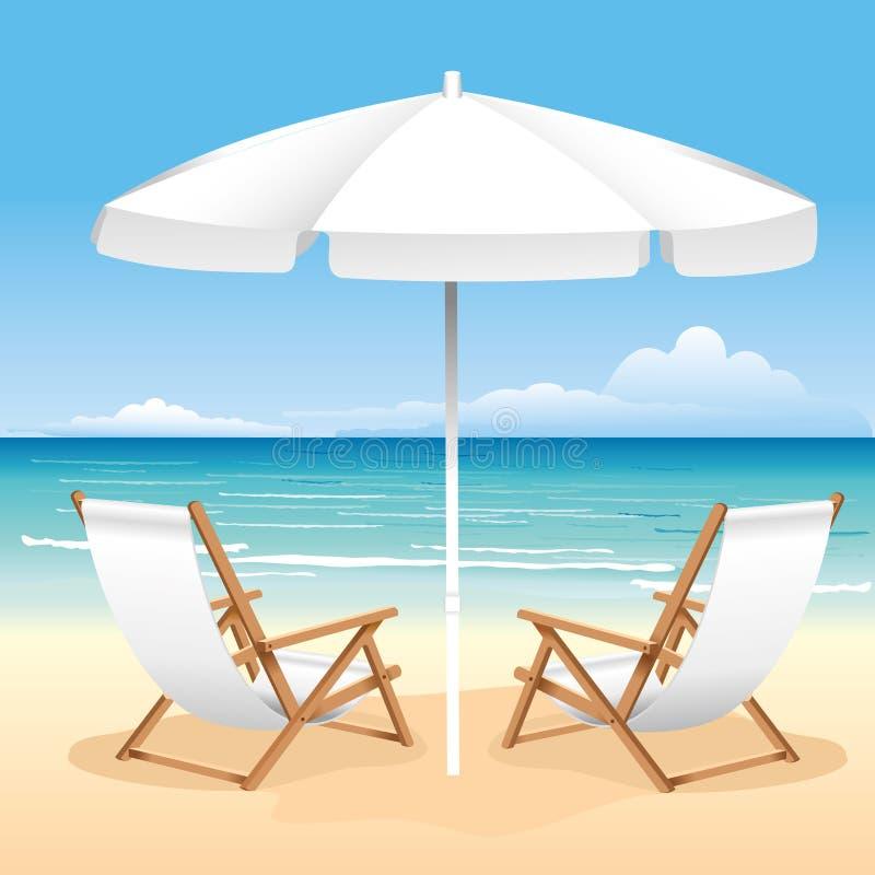 Strand-Stuhl lizenzfreie abbildung