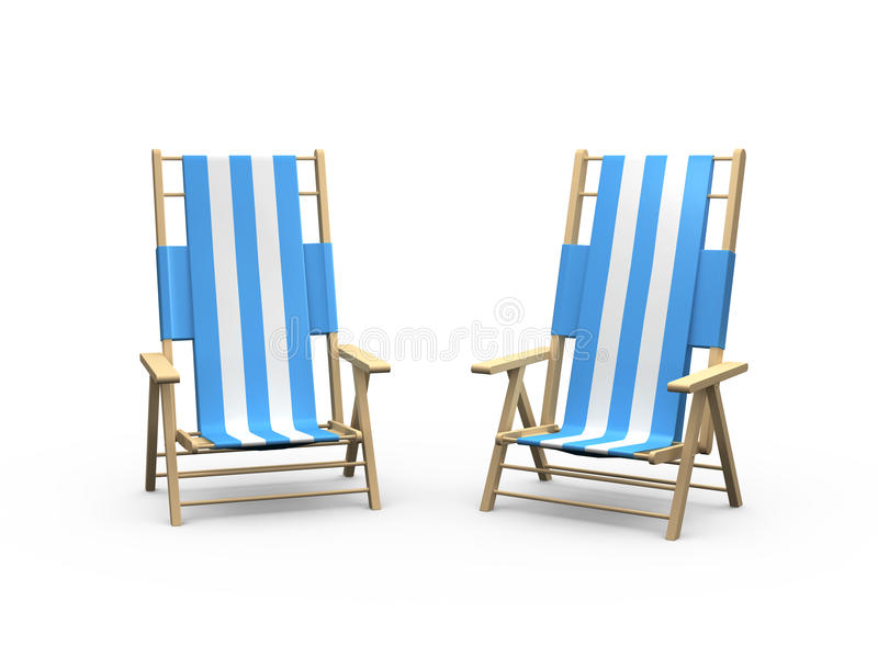 Strand-Stuhl für Paare vektor abbildung