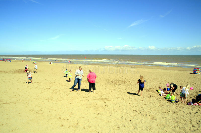 Strand, Sutton op Overzees, Lincolnshire stock foto