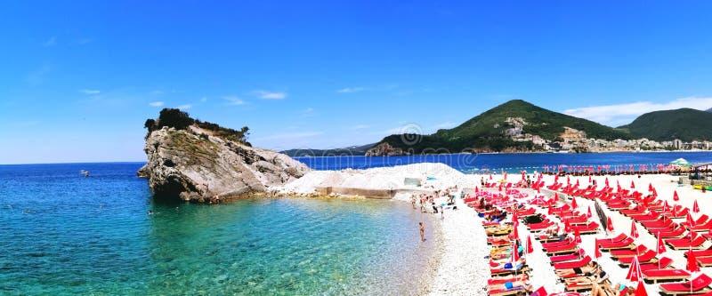 Strand Sveti Nikola lizenzfreies stockfoto