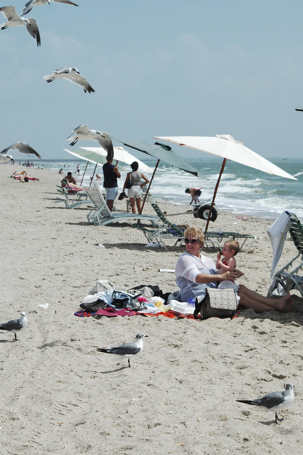 Strand-Szene stockfotografie