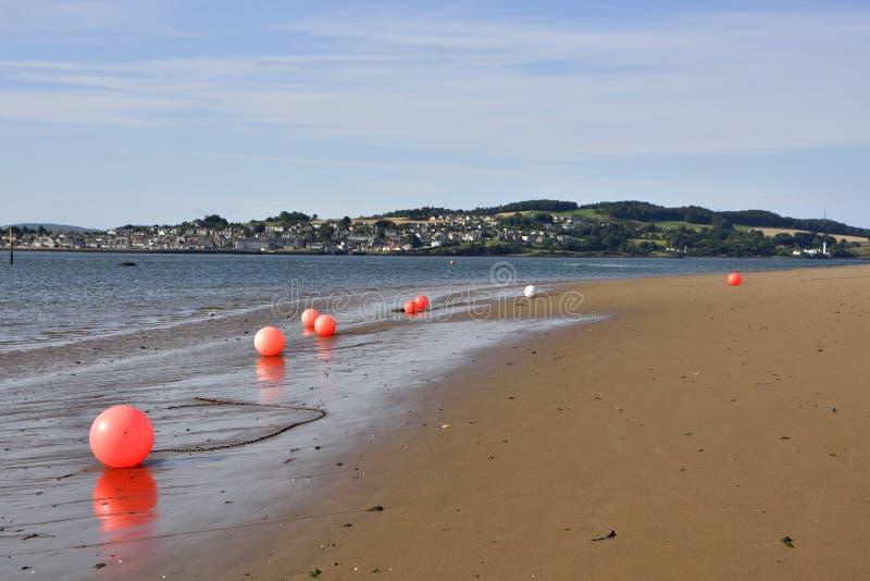Strand-Szene der schottischen Förde lizenzfreies stockbild