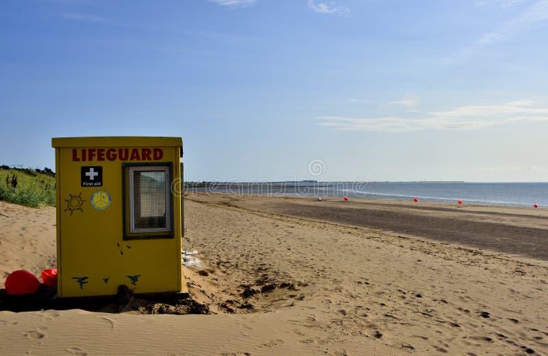 Strand-Szene der schottischen Förde stockfoto