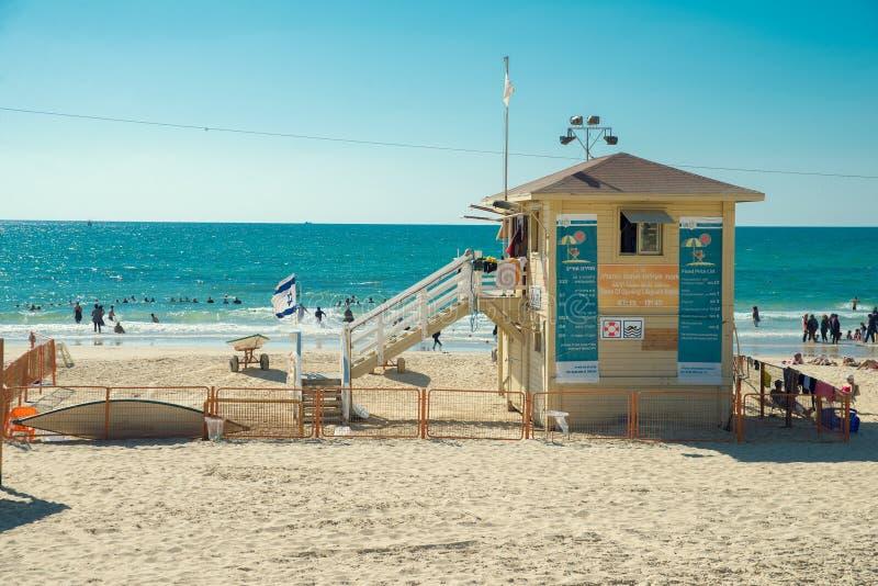 Strand in Tel Aviv royalty-vrije stock fotografie