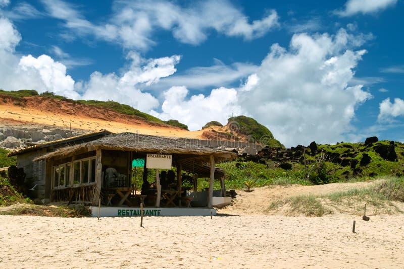 Strand toneel. Praia do Pipa, Brazilië stock fotografie