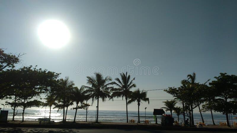 Strand Ubatuba - SP stockbild