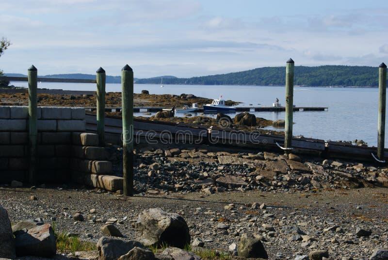 Strand und Dock lizenzfreie stockbilder