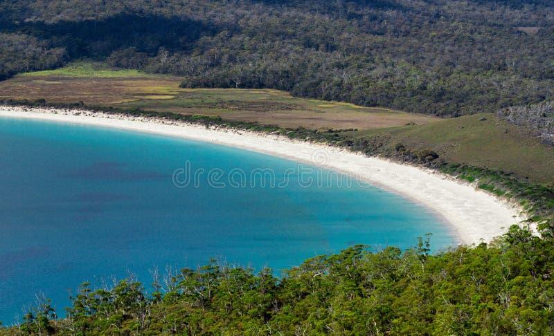 Strand und haarscharfes Wasser von Tasmanien lizenzfreie stockbilder